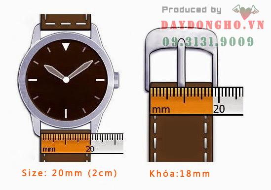 cách đo size dây đeo đồng hồ