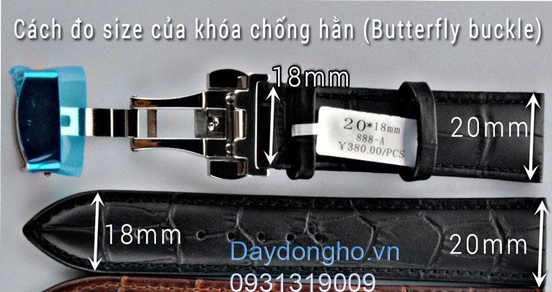 Cách đo size khóa dây da đồng hồ