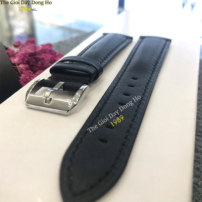 Dây da đồng hồ Amapete màu đen 1989watch