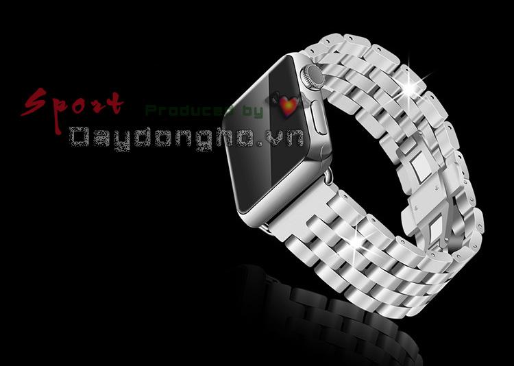 dây đồng hồ kim loại cho apple watch