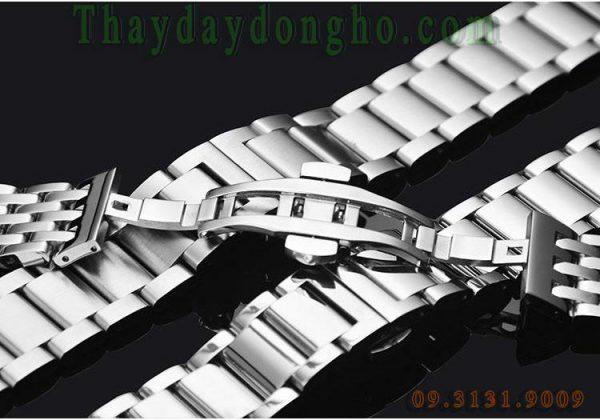 Dây đồng hồ kim loại bạc