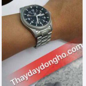 Thay dây kim loại đồng hồ seiko 5