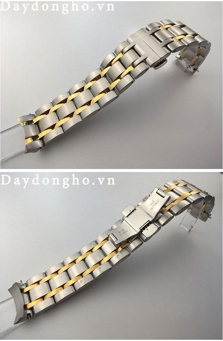 dây đồng hồ tissot kim loại đúc