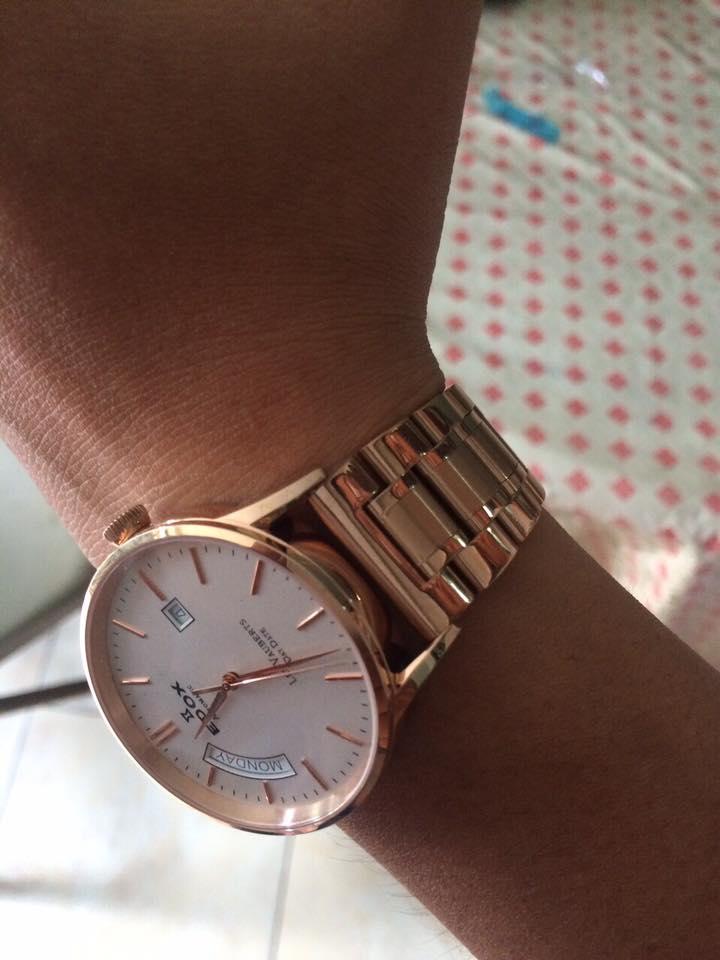 thay dây đồng hồ kim loại giă rẻ màu đồng