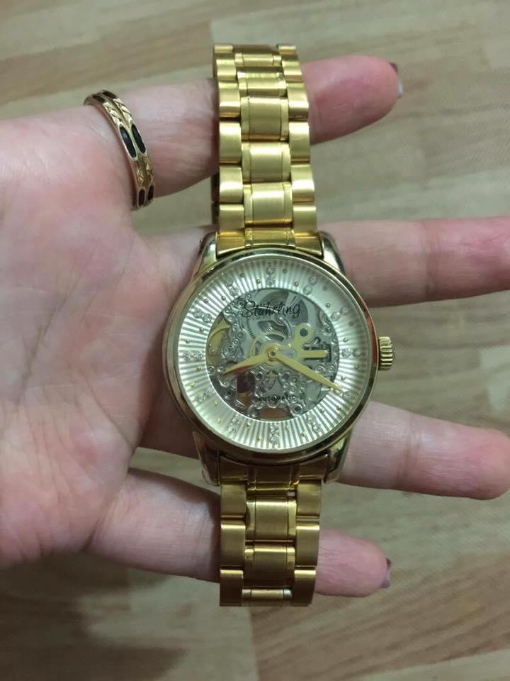 thay dây đồng hồ kim loại vàng
