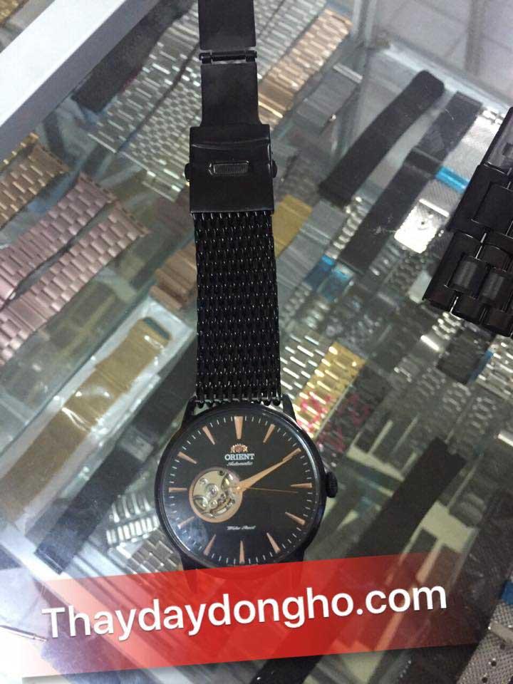 thay dây đồng hồ kim loại cho orient